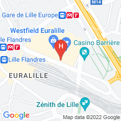 Map SEJOURS & AFFAIRES LILLE EUROPE