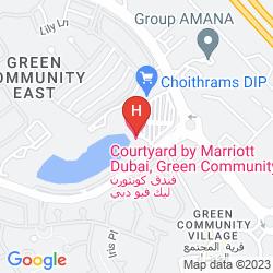Map COURTYARD DUBAI, GREEN COMMUNITY