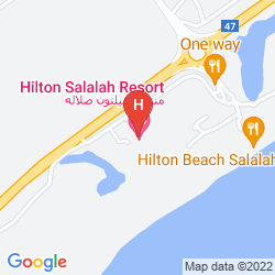 Map HILTON SALALAH RESORT