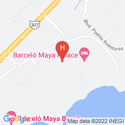 Map BARCELO MAYA COLONIAL & TROPICAL BEACH