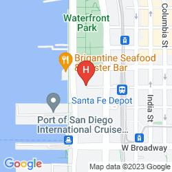 Map WYNDHAM SAN DIEGO BAYSIDE