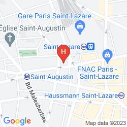 Map MAISON ALBAR HOTEL PARIS OPERA DIAMOND