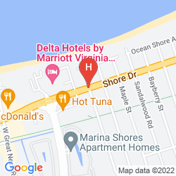 Map VIRGINIA BEACH RESORT HOTEL AND CONFERENCE CENTER