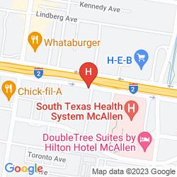Map HILTON GARDEN INN MCALLEN