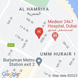 Map HOLIDAY INN BUR DUBAI - EMBASSY DISTRICT