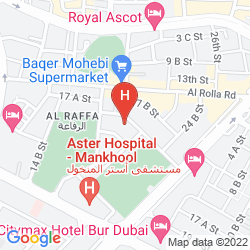 Map FORTUNE GRAND HOTEL APARTMENTS, BUR DUBAI