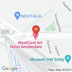 Map WESTCORD ART HOTEL AMSTERDAM 3 STARS