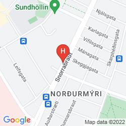 Map REYKJAVIK HOSTEL VILLAGE