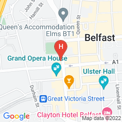 Map JURYS INN BELFAST