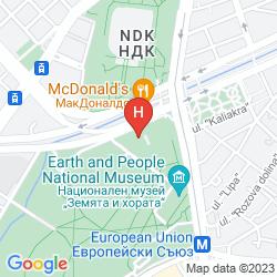 Map HILTON SOFIA BULGARIA