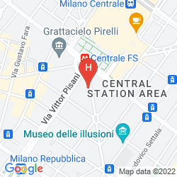 Map JUST HOTEL MILANO