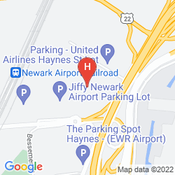 Map WYNDHAM GARDEN HOTEL NEWARK AIRPORT