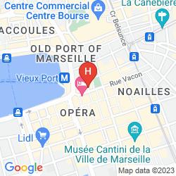 Map EUROPE HOTEL VIEUX PORT