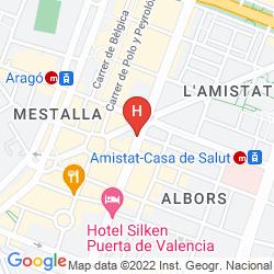 Map DORMAVALENCIA HOSTEL