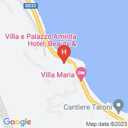 Map VILLA  E PALAZZO AMINTA HOTEL BEAUTY & SPA