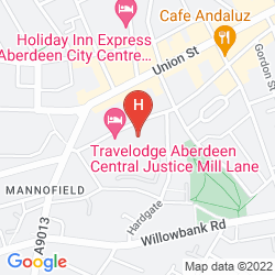 Map PARK INN BY RADISSON ABERDEEN
