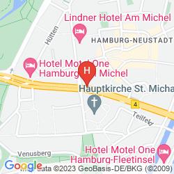 Map MOTEL ONE HAMBURG AM MICHEL