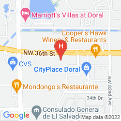 Map HOLIDAY INN EXPRESS MIAMI AIRPORT DORAL AREA