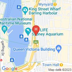 Map HYATT REGENCY SYDNEY