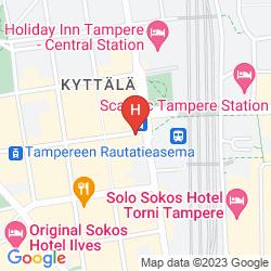 Map SCANDIC TAMPERE KOSKIPUISTO