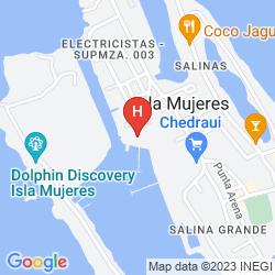 Map VILLA VERA PUERTO ISLA MUJERES HOTEL MARINA&BEACH