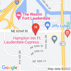Map HAMPTON INN FT. LAUDERDALE-CYPRESS CREEK