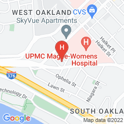 Map HAMPTON INN PITTSBURGH UNIVERSITY/MEDICAL CENTER
