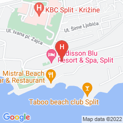 Map RADISSON BLU RESORT & SPA, SPLIT