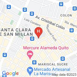 Map JW MARRIOTT HOTEL QUITO