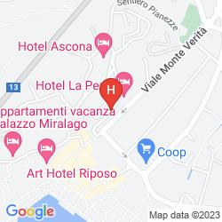 Map HOTEL LA PERLA