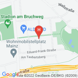 Map BEST WESTERN HOTEL MAINZ