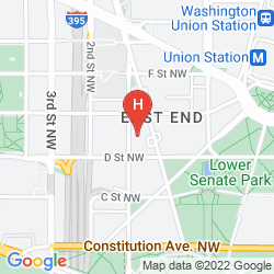 Map HYATT REGENCY WASHINGTON ON CAPITOL HILL