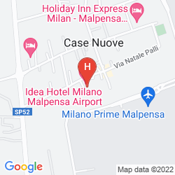 Map IDEA HOTEL MILANO MALPENSA AIRPORT