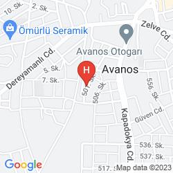 Map HOTEL AVRASYA