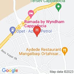 Map BURCU KAYA CAVE HOTEL