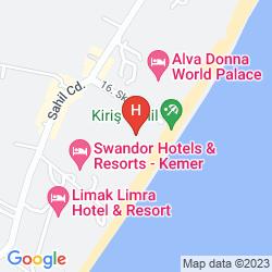 Map ALVA DONNA WORLD PALACE