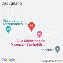 Map VILLA MICHELANGELO VICENZA - STARHOTELS COLLEZIONE