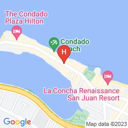 Map THE CONDADO PLAZA HILTON