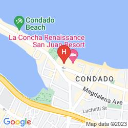 Map LA CONCHA  RENAISSANCE RESORT