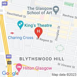 Map IBIS GLASGOW CITY CENTER