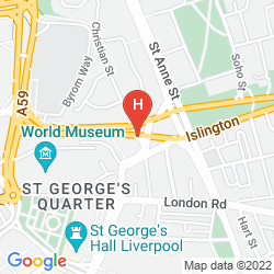Map HILTON LIVERPOOL CITY CENTRE
