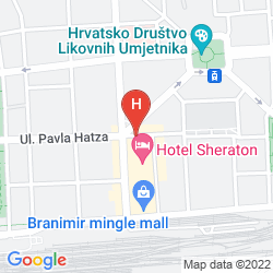 Map SHERATON ZAGREB
