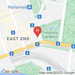 Map MERCURE MELBOURNE TREASURY GARDENS