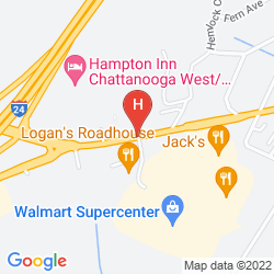 Map CLARION INN CHATTANOOGA