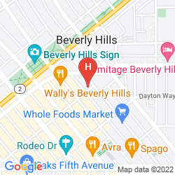 Map CRESCENT BEVERLY HILLS