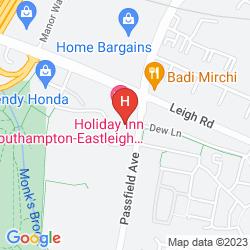 Map HOLIDAY INN SOUTHAMPTON EASTLEIGH