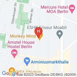 Map AMSTEL HOUSE HOSTEL BERLIN