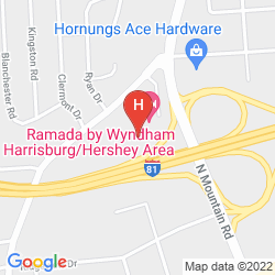 Map RAMADA HARRISBURG HERSHEY AREA