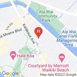 Map AMBASSADOR HOTEL WAIKIKI
