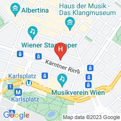 Map GRAND HOTEL WIEN